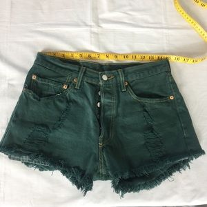 Levi's High Waisted button Fly Shorts